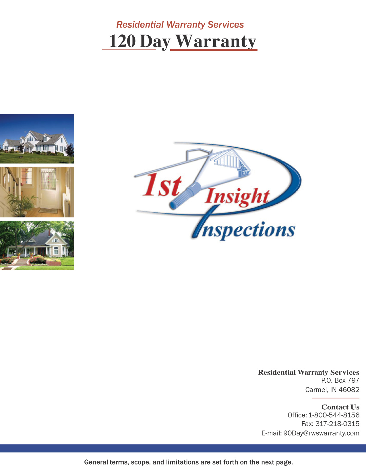 120 Day Warranty on Home Sellers Inspection - Home Inspectors for ...